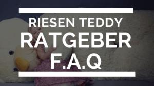Riesen teddy Ratgeber FAQ Artikel