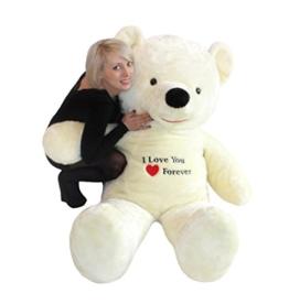 Riesen Teddybär Stickerei weiß 170cm