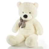 Riesen Teddybär XXL Kuschelbär 120 cm groß Plüschbär Original Feluna Weiß
