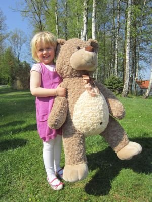 Sweety Toys 3785 XXL Riesen Teddy Teddybär Willi super süss 90 cm Willibär