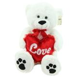 Sweety-Toys 5710 XXL Riesen Teddy Valentine Teddybär 80cm weiss Herz LOVE