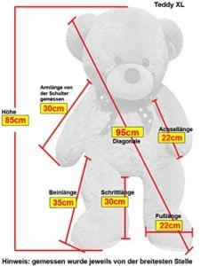 XL Kuschel-Riesen-Teddybär groß in Weiß
