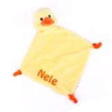 Striefchen® Enten Schnuffeltuch mit gratis Namen bestickt mit Geschenkverpackung - 1